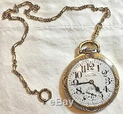 Rare Hamilton Railway Special 992 B Pocket Watch 10k Gf 21 Jewels 16 Sz