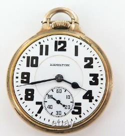 Rare Only 63,900 Made / 1939 Hamilton 992e 16s 21j Rrgrade 10k Gf Pocket Watch