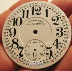 Rare True Enamel Hamilton Railway Special Montgomery Pocket Watch Dial
