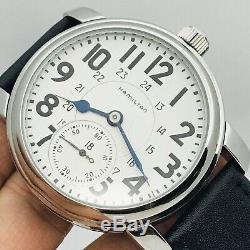 SERVICE 1943 Hamilton 992B 16S 21J Railroad Pocket Wrist Watch Salesman Accurate