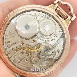 SERVICE 1953 Ball Hamilton 999B 16S 21J BOC Bar Over Crown Railroad Pocket Watch