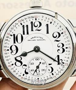 SERVICE 1968 Hamilton 992B 16S 21J Railroad Pocket Wrist Watch Salesman Accurate