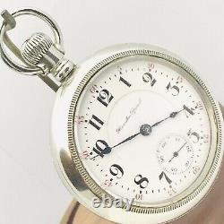 SERVICE RARE Demaskeen 1907 Hamilton 940 18S 21J Salesman Railroad Pocket Watch