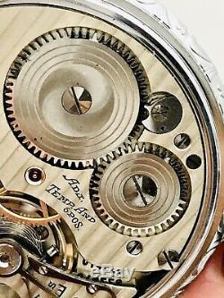 SERVICED 1941 Hamilton 992B 16S 21J Railroad Pocket Watch 2 Tones Salesman Case