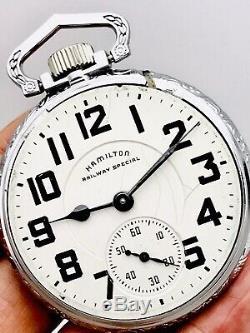 SERVICED 1951 Hamilton 992B 16S 21J Railroad Pocket Watch Salesman Case Accurate