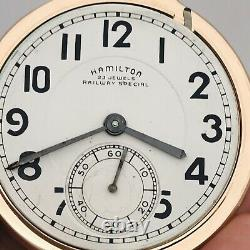 SERVICED 1952 Hamilton 950B 16S 23J BOC Bar Over Crown Railroad Pocket Watch