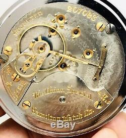 STUNNING 1903 Hamilton THE UNION SPECIAL 18S 17J Pocket Watch Salesman ACCURATE