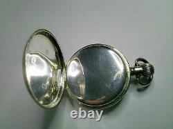 SUPERB SOLID S/SILVER, HAMILTON, 16s, 17Js, OPEN FACED POCKET WATCH, FWO