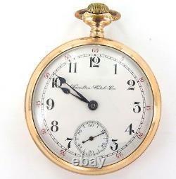 Scarce 1903 Hamilton 926 18s 17j Pocket Watch. Unusual Engraved Case Back