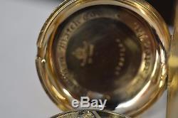Scarce Hamilton 16 size Pocket Watch 23 Jewel Model 950 gold train 1918