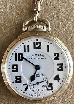Scarce Hamilton 950 Elinvar Railway Special Pocket Watch 10kgf 23 Jewels 5 Adj
