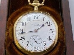 Solid 14k Gold Hamilton Cased 950 Railroad Watch WithOriginal Box and Inside Label