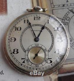 Solid 14k Gold Vintage 1928 Hamilton 922 23 Jewel 5 Adj. 12 Size Pocket Watch