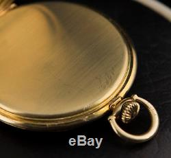 Solid 14k gold Hamilton Grade 917, Wadsworth case, c. 1936