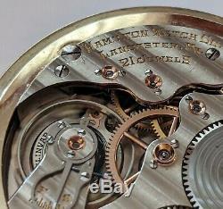 Strong Running 1935 Hamilton 992 Elinvar Model 2 Pocket Watch