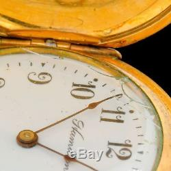 ULTRA RARE Hamilton Grade 983 Hunting Case Pendant Pocket Watch