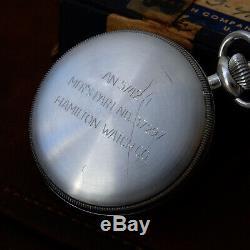 US NAVY Military Hamilton Model 23 Vintage 1942 WWII Chronograph Pocket Watch
