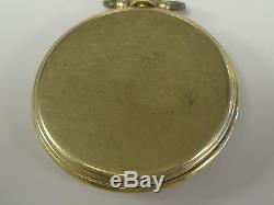 VINTAGE 14 K SOLID GOLD HAMILTON POCKET WATCH 917 GRADE 17 JEWELS, keeps time