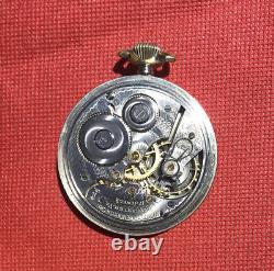 VINTAGE 1919 HAMILTON Grade 974 Railroad Pocket Watch, 17j, 16s, 14K WGF J. Boss