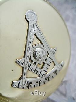 VINTAGE HAMILTON 992 ELINVAR POCKET WATCH 21 JEWEL 16s MASONIC CASE