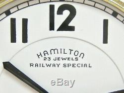VINTAGE HAMILTON BOC 950B POCKET WATCH 16s 23j HAMILTONS TOP RR TIMEPIECE