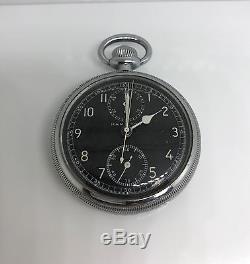 VINTAGE HAMILTON Early 1940s WWII MODEL 23 Navigational Pocket Watch
