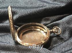 Very Beautiful Detailed Keystone Jboss 14k Gf Size 18 Pocket Watch Case