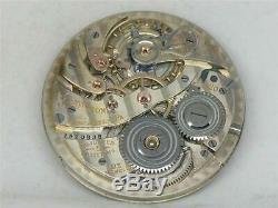 Very High Grade 23j Hamilton 920 Nickel 12s Movement & Silver Dial, Running