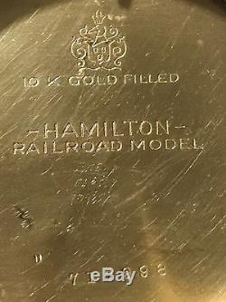 Very Nice Hamilton16S Railroad Model 10K Gold Filled Railroad Pocket Watch Case