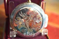 Very Rare, Hamilton 992 P Solid Sterling Silver & Gold inlays