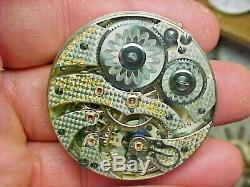 Very Scarce Hamilton 16S 21J 994 Leverset Open Face Nickel Movement 1101 Made