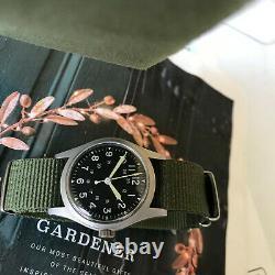 Vietnam War GG-W-113 Spec Hamilton 1988 military men's watch, Rare screw back