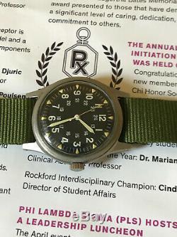 Vietnam War Hamilton US military 1969 issue men's watch, Ref GG-W-113 with Hack