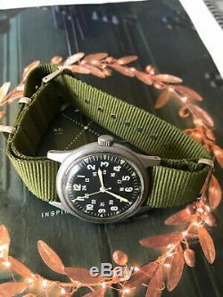 Vietnam War Hamilton US military 1969 men's watch, model GG-W-113 with Hack