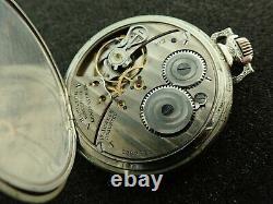 Vintage 12 Size Hamilton Pocket Watch Grade 912 14k White Gold Filled Case
