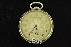 Vintage 12 Size Hamilton Pocket Watch Grade 912 Sailing Ship Dial From 1928