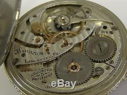 Vintage 14k Solid White Gold Hamilton 904 Pocket Watch 60+ Grams, 21 Jewels 12s