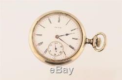 Vintage 16 Size Elgin Sidewinder Pocket Watch Grade 342 3 Finger Bridge