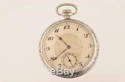 Vintage 16 Size Hamilton 21j 992 Railroad Pocket Watch Running From 1914