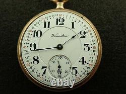 Vintage 16 Size Hamilton 992 Pocket Watch 21 Jewels Lever Set Railroad 1920