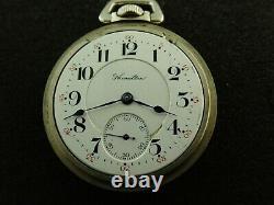 Vintage 16 Size Hamilton 992 Pocket Watch 21 Jewels Railroad From 1910
