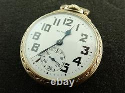 Vintage 16 Size Hamilton O. F. Pocket Watch Grade 992b Keeping Time From 1947