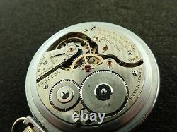 Vintage 16 Size Hamilton Pocket Watch Grade 992 Railroad 21j From 1917