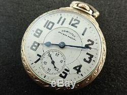 Vintage 16 Size Hamilton Railway Special Pocket Watch Grade 992b Keeping Time