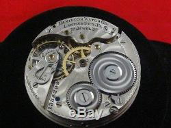 Vintage 16s Hamilton 17j Pocketwatch Movement Grade 956
