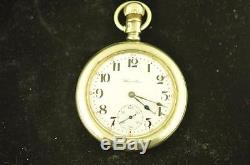 Vintage 16s Hamilton 21j 992 Swing Out Pocket Watch Display Back From 1914