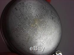 Vintage 16s Hamilton 4992B 22 jewel Navigational pocket watch. 1944. Runs great