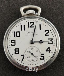 Vintage 16s Hamilton Railway Special Grade 992b Pocket Watch From 1952 Running
