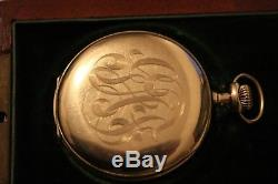 Vintage 1909, Solid 14K Yellow Gold Hamilton Pocket Watch Excellent condition