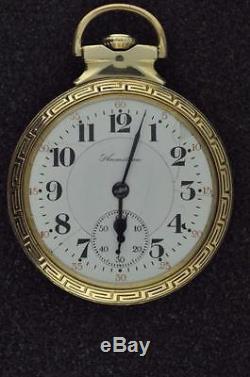 Vintage 1910 Hamilton 16 Size Pocket Watch 21 Jewel Grade 992 Running Well
